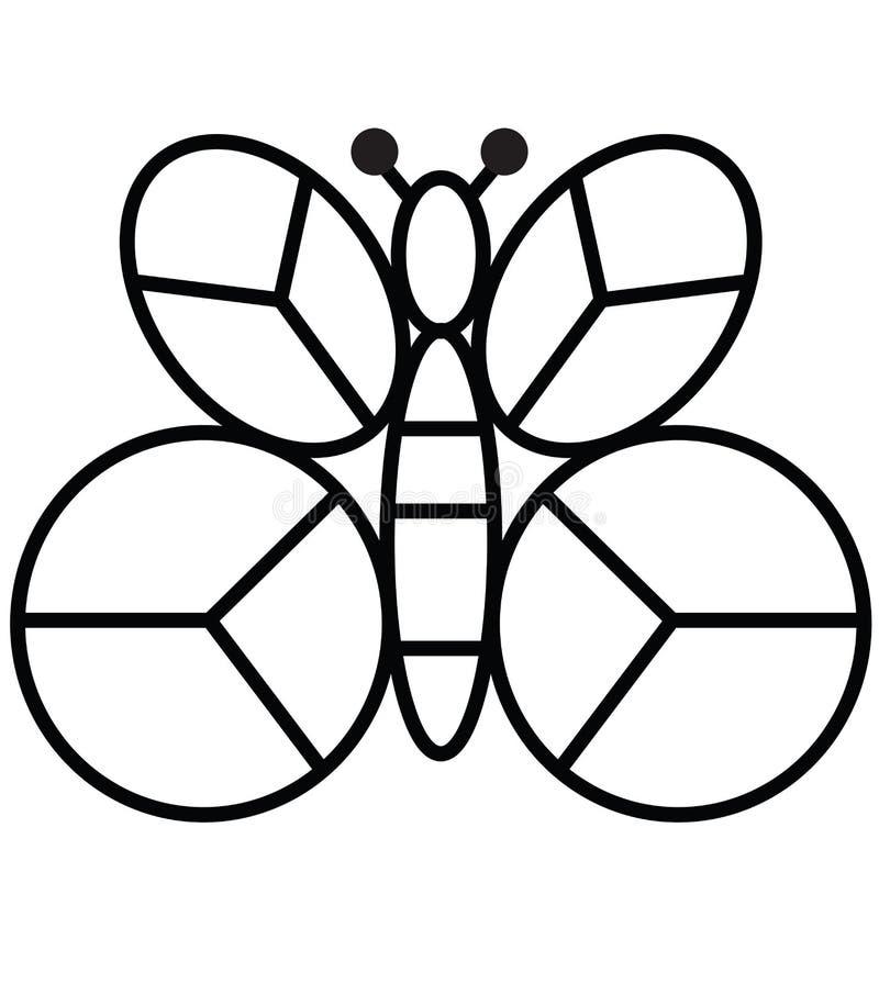 Ispirazione geometrica astratta di progettazione di logo dell'icona dell'ape per il taglio del laser fotografia stock