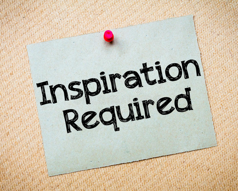Ispirazione richiesta immagini stock