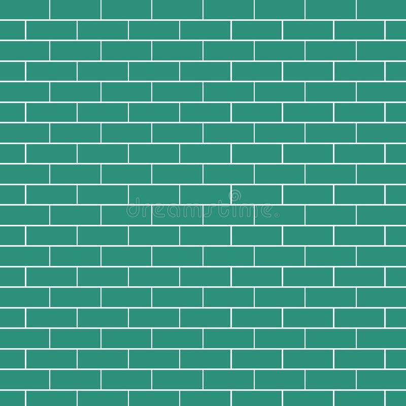 Ispirazioni senza cuciture del muro di mattoni compreso la Camera favolosa dell'autoadesivo del fondo di idee illustrazione di stock