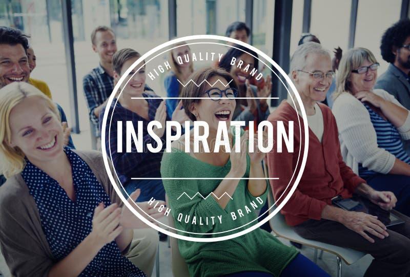 Ispiri l'ispirazione d'ispirazione motivano innovano concetto fotografie stock