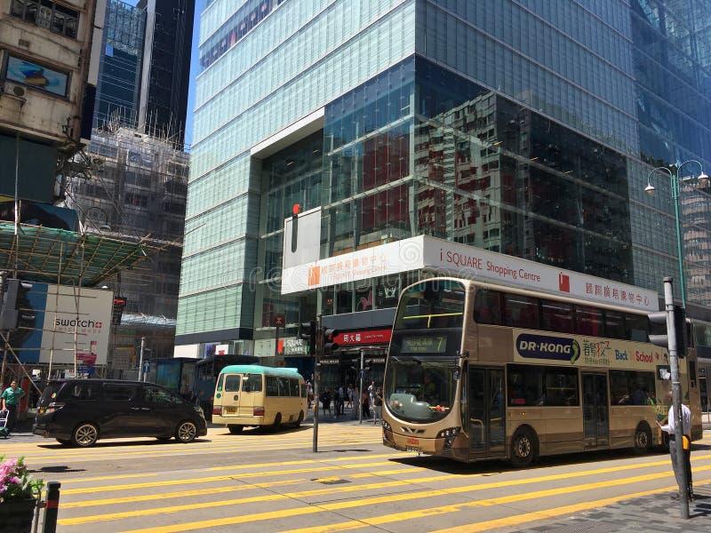 ISquare shoppingcenter i Hongkong royaltyfria foton