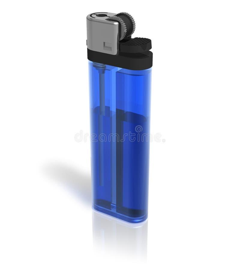 Isqueiro azul ilustração stock