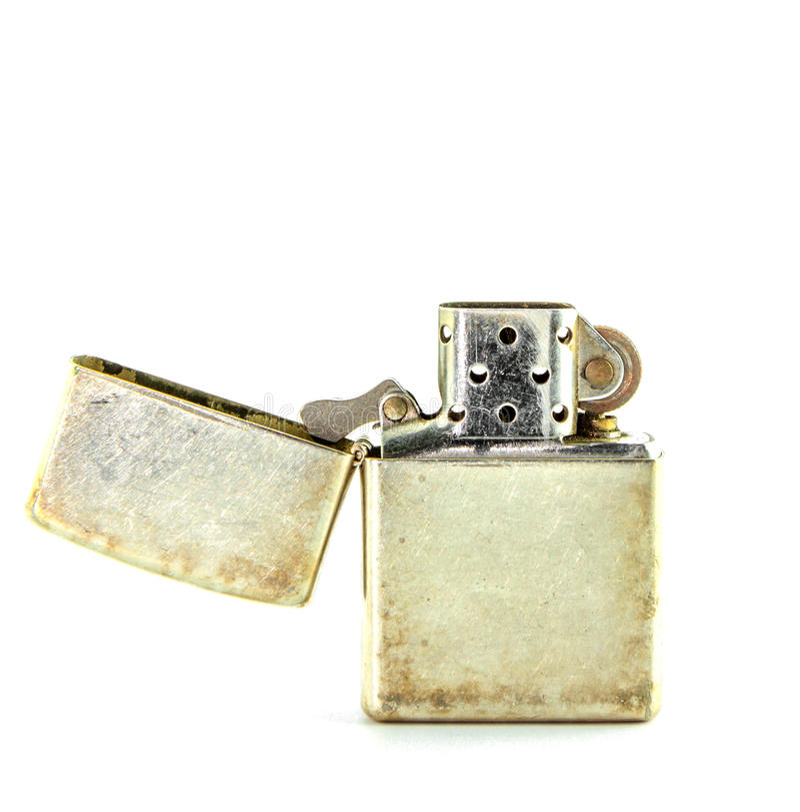 Isqueiro de prata da gasolina do vintage  foto de stock royalty free