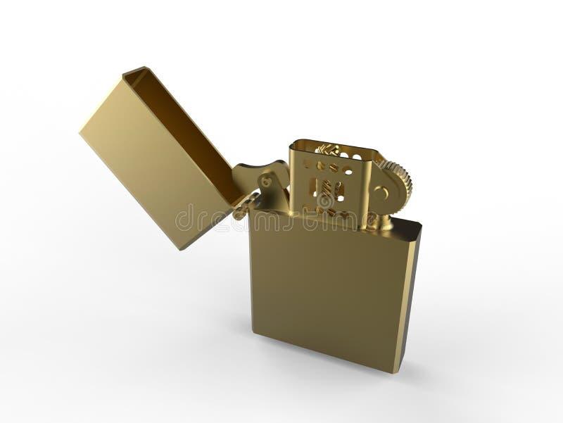 Isqueiro dourado ilustração do vetor