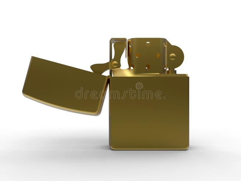 Isqueiro metálico dourado ilustração royalty free