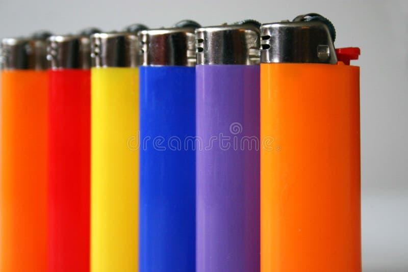 Isqueiros coloridos fotos de stock