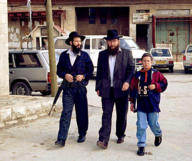ISRAÉLIEN SUR LA CISJORDANIE images stock