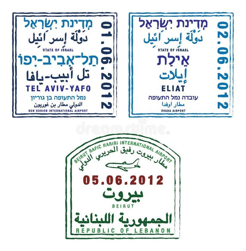 Israël en Libanon royalty-vrije illustratie
