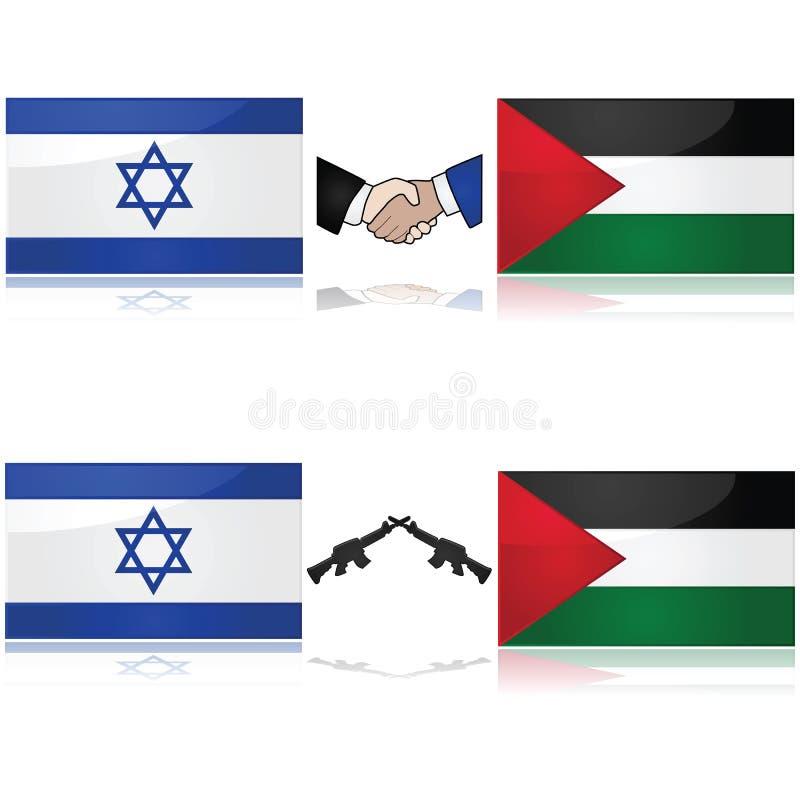 Israël en Palestina royalty-vrije illustratie