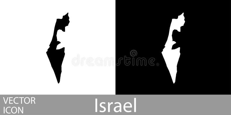 Israël gedetailleerde kaart royalty-vrije illustratie