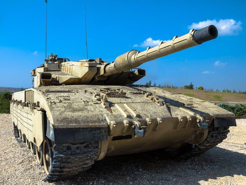 Israël gemaakte hoofdgevechtstank Merkava Mk III Latrun, Israël stock afbeeldingen