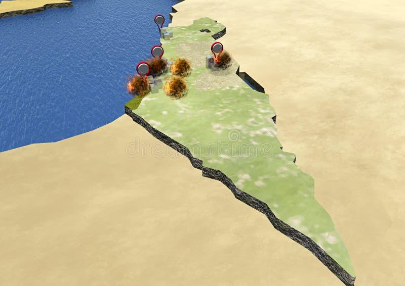 Israël, stakingsplannen stock illustratie