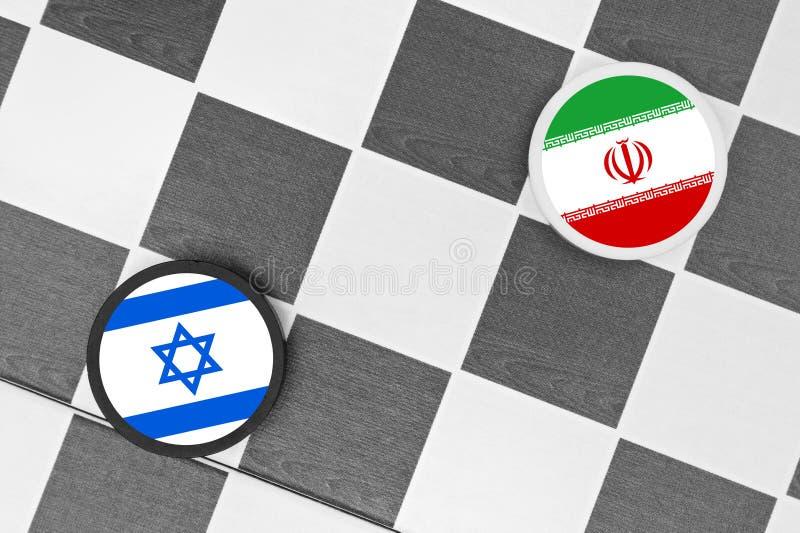 Israël versus Iran stock foto