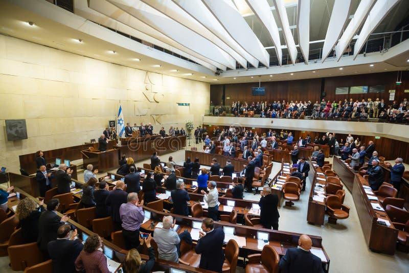 Israëlisch het Parlement Knesset Jeruzalem, Israël stock foto's
