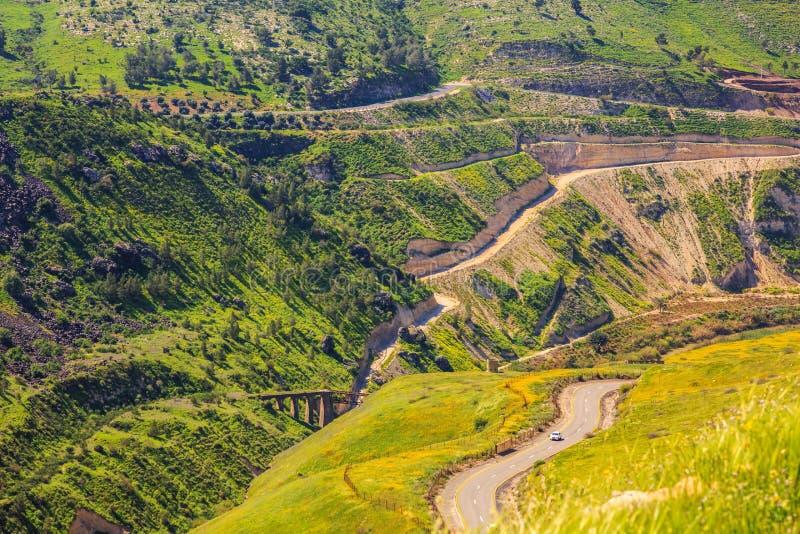 Israëlisch-Israeli-Jordanian grens stock afbeelding