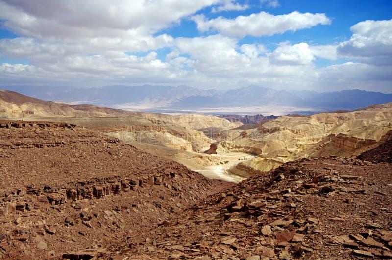 Israëlisch landschap dichtbij Eilat stock fotografie