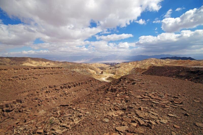 Israëlisch landschap dichtbij Eilat stock foto's