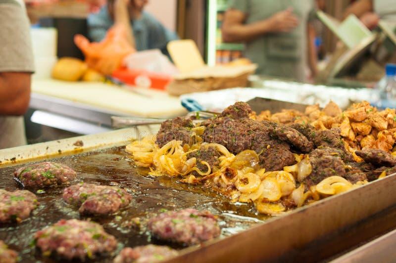 Israëlisch straatvoedsel royalty-vrije stock afbeeldingen