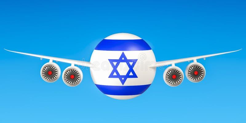 Israëlische luchtvaartlijnen en flying& x27; s, vluchten aan het concept van Israël 3d ren vector illustratie