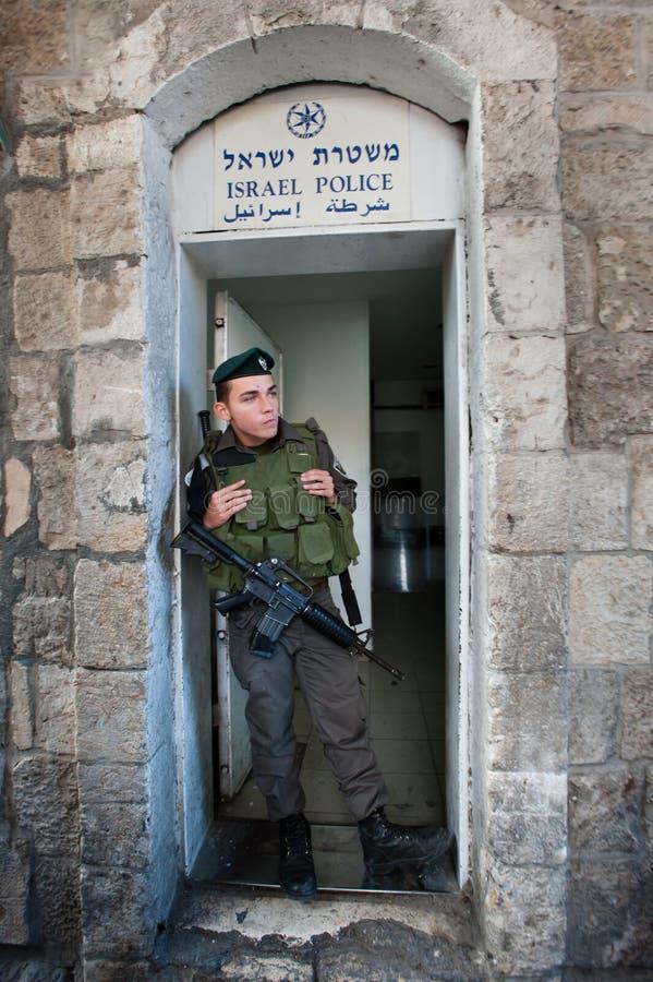 Israëlische Politie in Jeruzalem stock fotografie