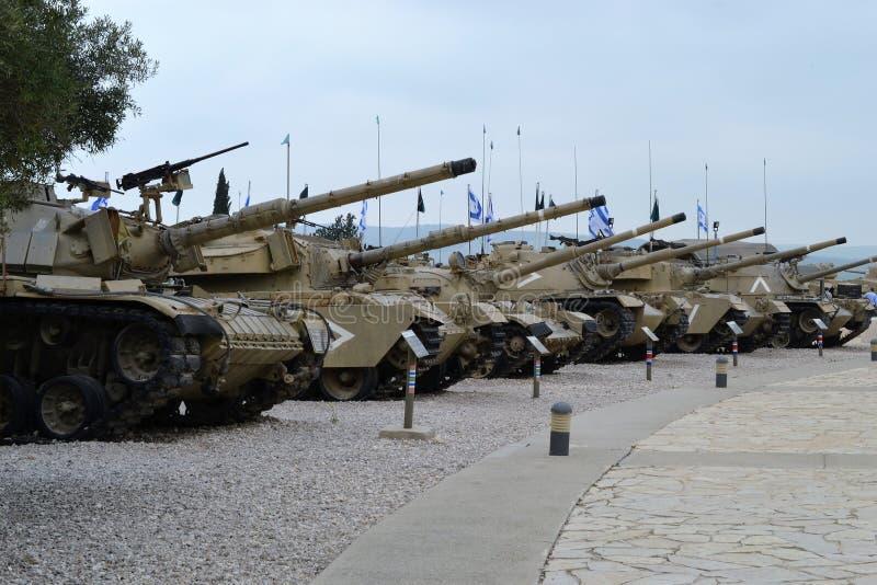 Israëlische tanks bij het Israëlische Tankmuseum in Latrun, Israël stock foto