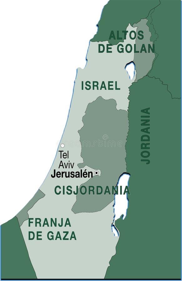 israel översikt royaltyfri illustrationer