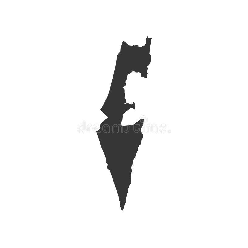 Israel översiktskontur vektor illustrationer
