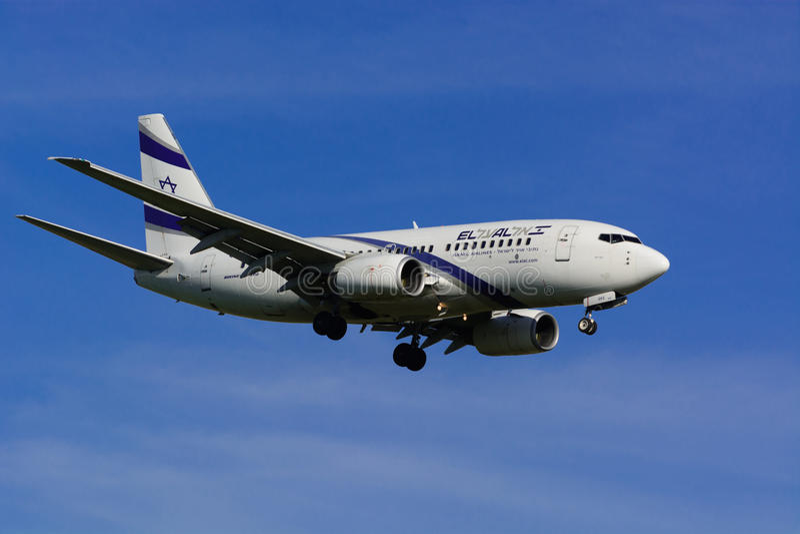 Israel Airline EL AL/Gen seguinte de Boeing 737/MSN 29961/4X-EKE imagens de stock royalty free
