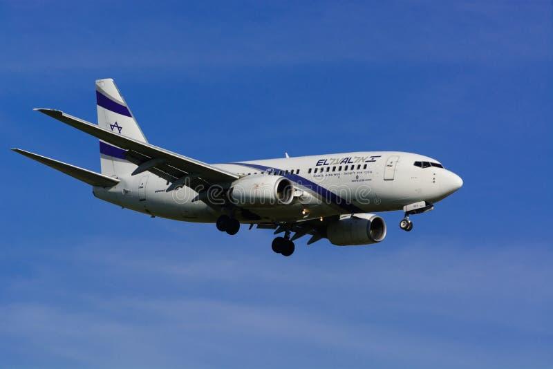 Israel Airline EL AL/GEN siguiente de Boeing 737/MSN 29961/4X-EKE imágenes de archivo libres de regalías