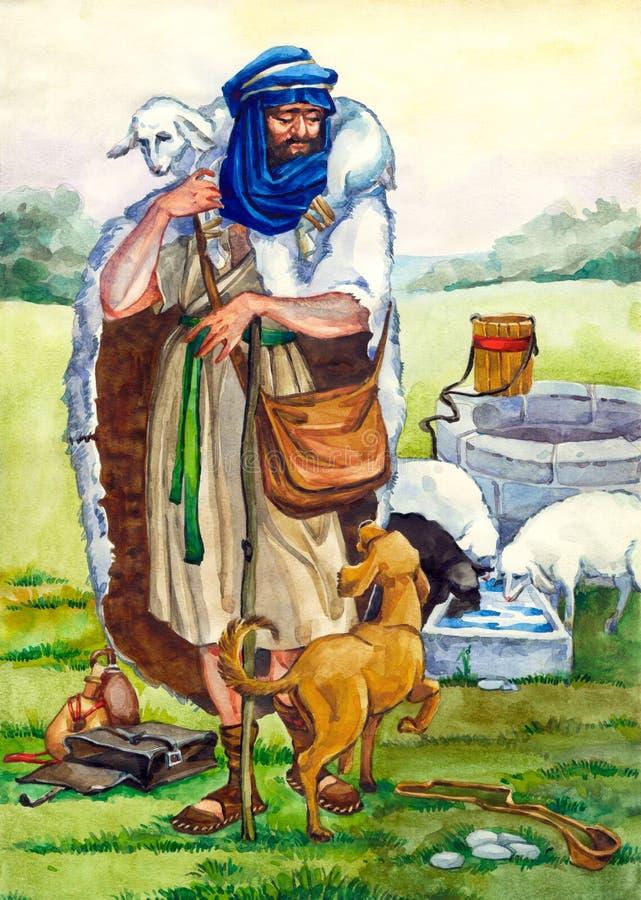 Israel antiguo. Pastor stock de ilustración