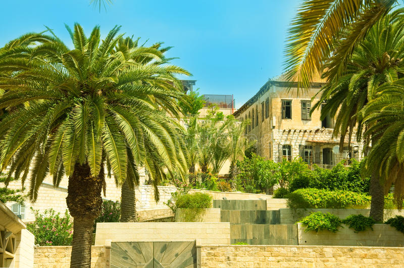 israel antyczna ulica Nazareth obraz royalty free