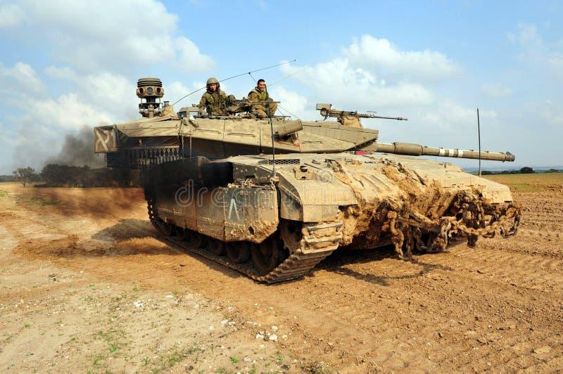 Israel armé - Merkava behållare royaltyfria foton