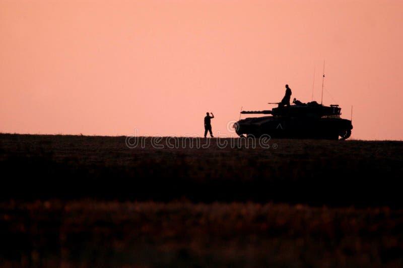 Israel Army Tank royaltyfri bild