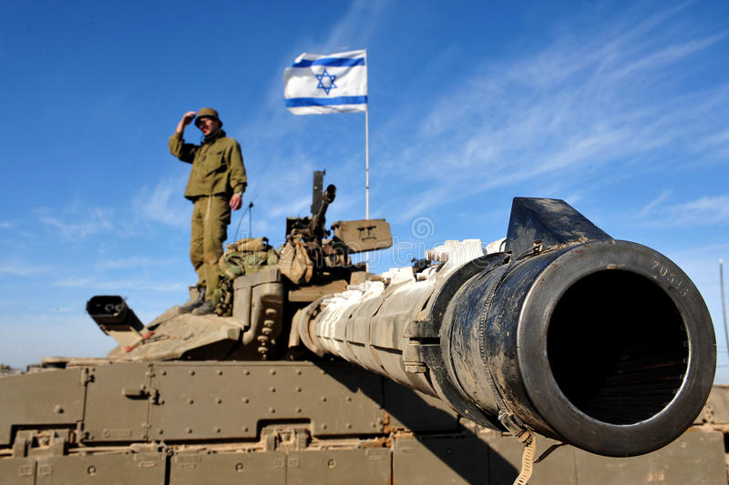Israel Army Tank stock afbeeldingen