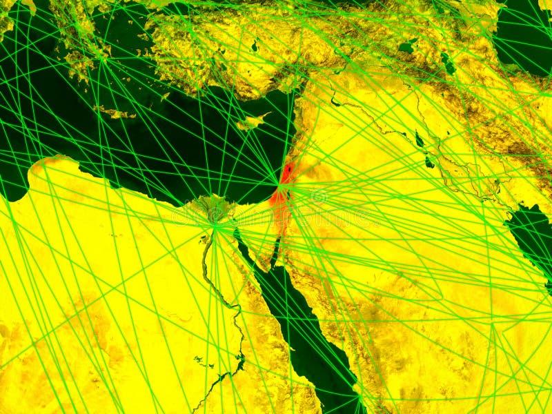Israel auf digital erzeugter Karte stock abbildung