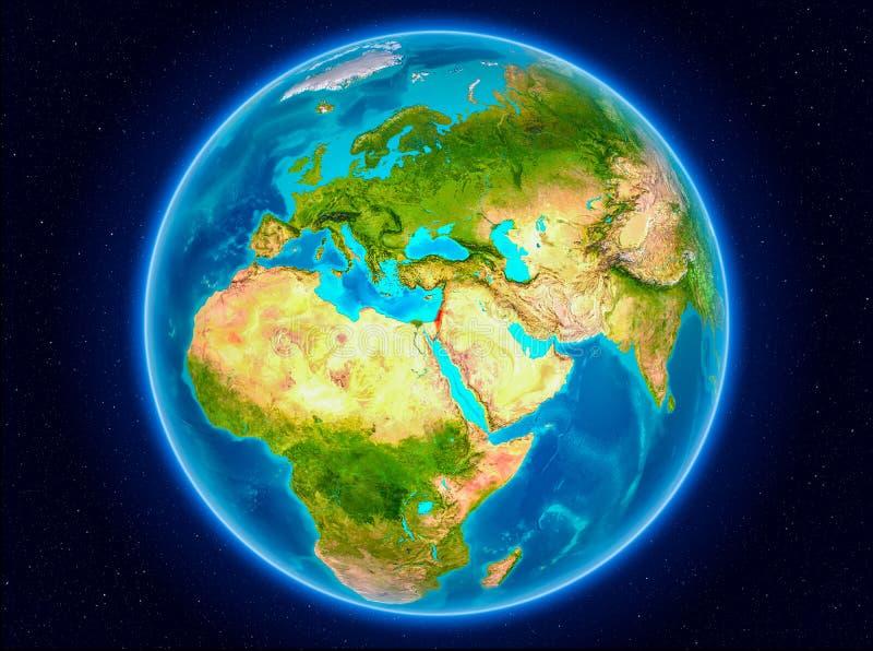 Israel auf Erde lizenzfreie abbildung