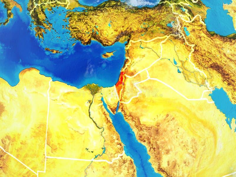 Israel auf Erde vom Raum vektor abbildung