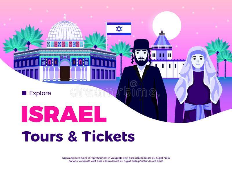 Israel Background Illustration ilustração stock