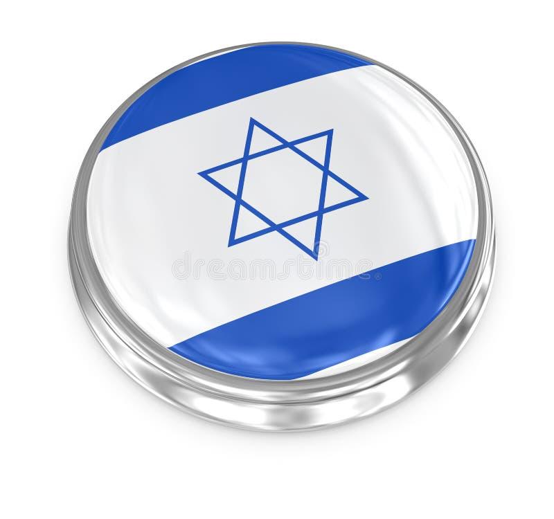 Flag badge - Israel. Israel badge , computer generated image. 3d render stock illustration