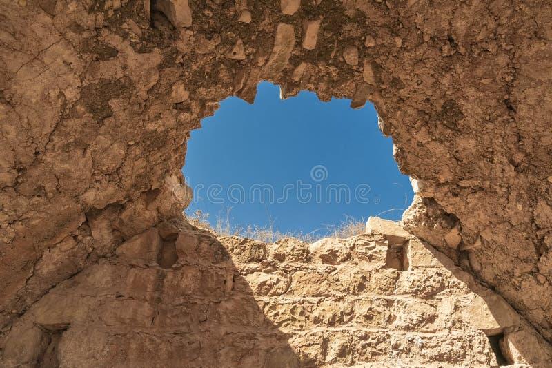 Israel Bethel Vista del punto oficialmente identificado la roca del sueño de Jacobs en Bethel según lo descrito en la génesis 28- imagen de archivo libre de regalías