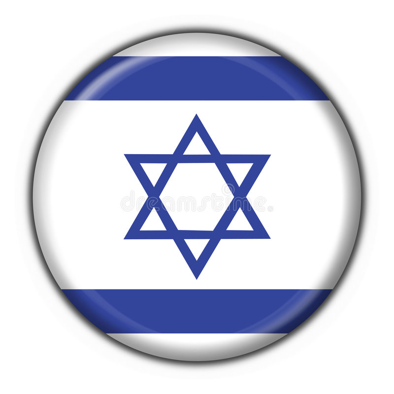 Israel button flag round shape stock illustration
