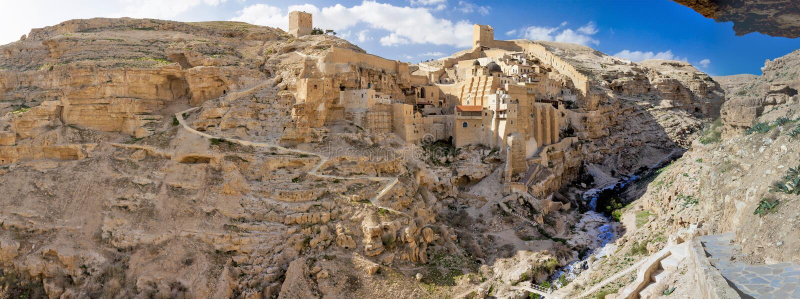 Israel - Cisjordânia - Bethlehem - monastério grego Lavra santamente de S foto de stock royalty free