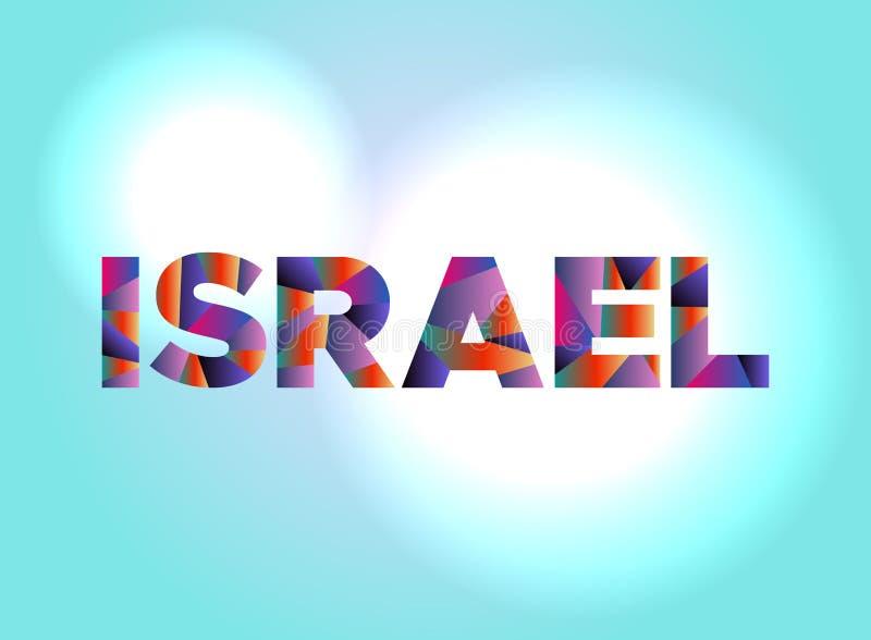 Israel Concept Colorful Word Art-Illustratie royalty-vrije illustratie