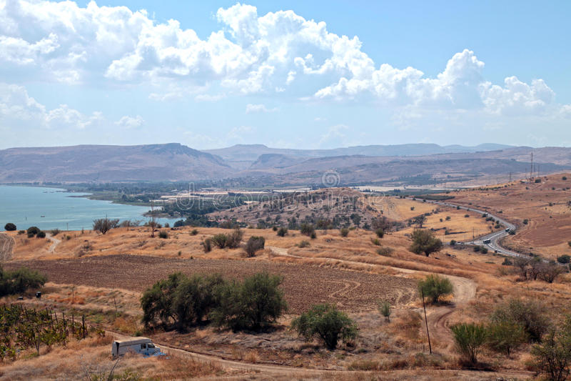 Israel countryside, Galilee sea, Tiberias. royalty free stock photos
