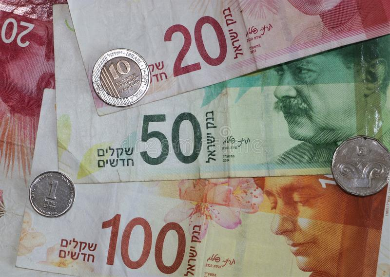 Israel Currency lizenzfreies stockfoto