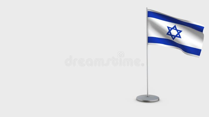 Israel 3D vinkande flaggaillustration vektor illustrationer
