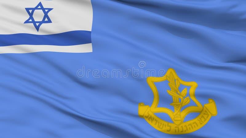 Israel Defense Forces Flag Closeup-Ansicht stock abbildung
