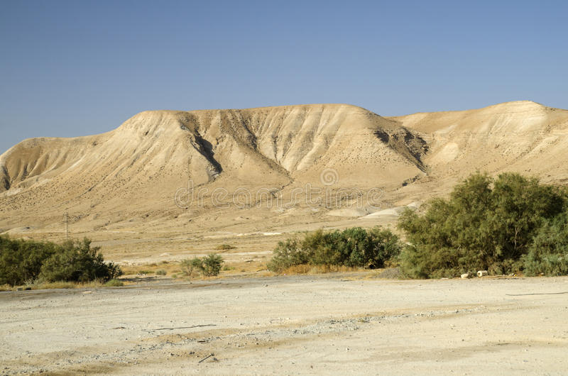 Israel desert mountains royalty free stock photography