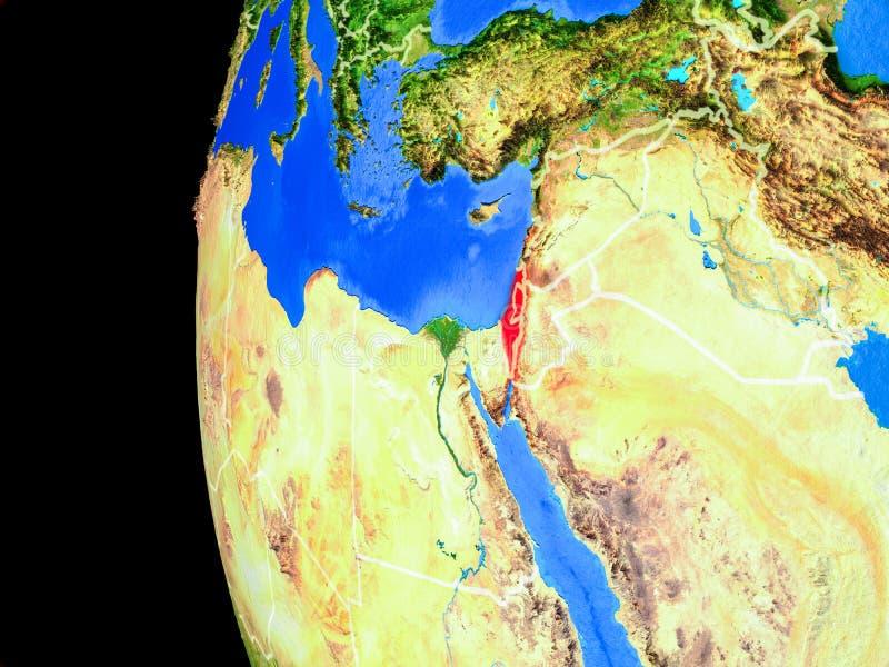 Israel do espaço ilustração royalty free