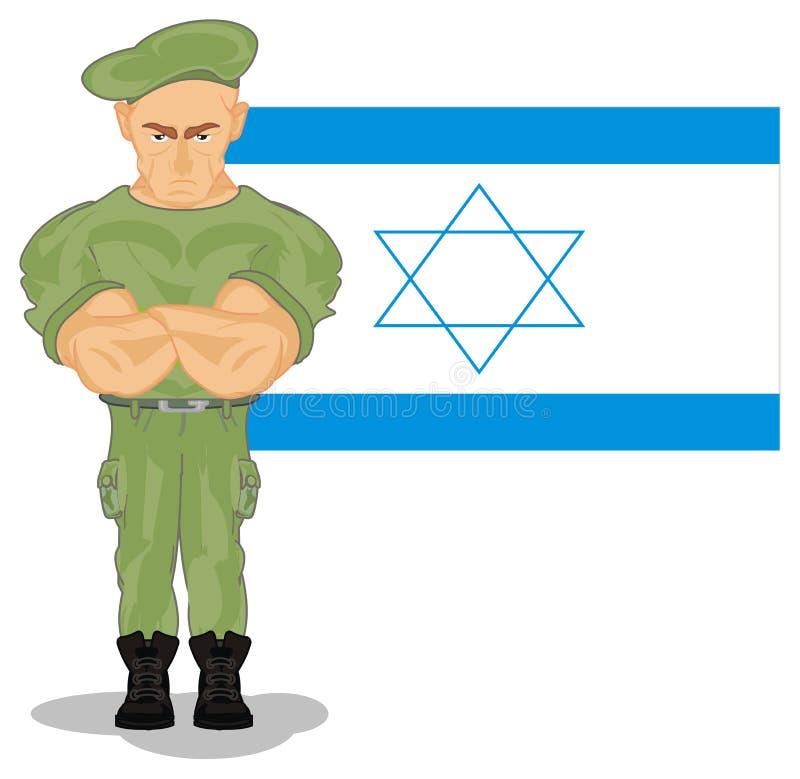 Israel e exército ilustração stock